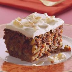 Carrot Cake - 50% less fat than most.