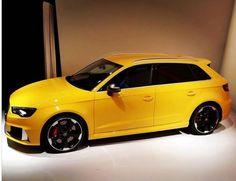 Audi RS3 Yellow