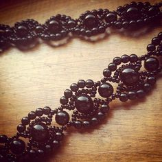 Dark Vintage Beaded Bracelet | You will love this DIY jewelry piece! It is perfect for holidays and special occasions!