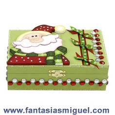 Caja de regalo navideña Christmas Eve Box, All Things Christmas, Christmas Crafts, Xmas, Christmas Ornaments, Decoupage, Flower Pot People, Terracotta Flower Pots, Ceramic Boxes