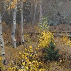 Michael Godfrey, Early Fall, 6x6 Oil