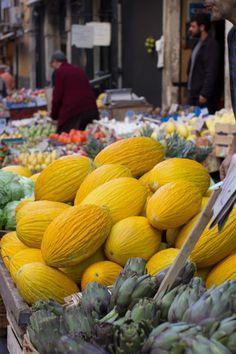 Street market in Catania, Sicily, Italy