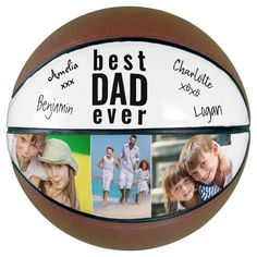 Best Dad Ever Signed Photo White Basketball - tap/click to personalize and buy #best #dad #ever, #photo, #signed,