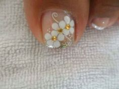 Pedicure Nail Art, Pedicure Designs, Toe Nail Designs, Nail Polish Designs, Toe Nail Art, Pretty Toe Nails, Cute Toe Nails, Feet Nails, Toenails