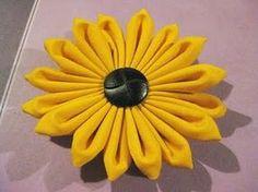 Fabric Sunflowers : wedding diy flowers gold 011