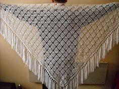 Padrões de tecido xale gtanchillo triangular