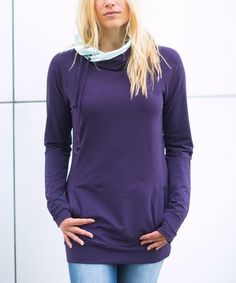 621e6237fd Another great find on  zulily! Plum  amp  Mint Crossover Hoodie - Women by