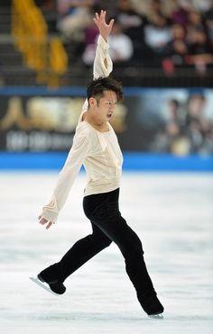 Daisuke Takahashi of Japan performs in the men's free skating at the Japan Open figure skating competition at Saitama Super Arena in Saitama...