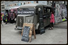 Tea and Crumpets, Citroen HY food truck. Love the A-frame!