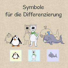 Symbole für die Differenzierung