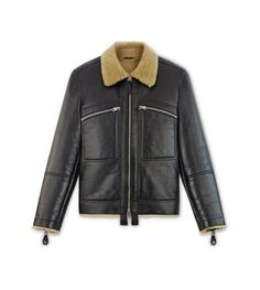 Tom Ford Cracked Shearling Jacket In Black Shearling Jacket, Leather Jacket, Revival Clothing, Tom Ford Men, The Right Man, Man Set, Single Men, Men's Wardrobe, Leather Men