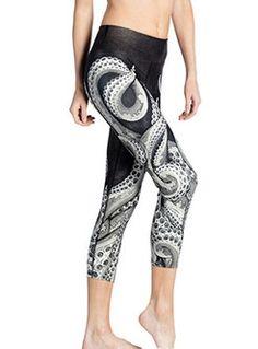 c32633534a1 Stylish Dry Fit Elastic Print Yoga Fitness Leggings