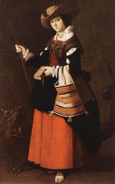 Francisco de ZURBARÁN, St Margaret  c. 1631  National Gallery, London
