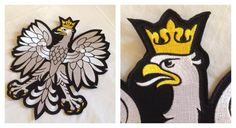 White Eagle, Polish emblem, machine embroidery, by The Home of Eagle project, for motorcyclists