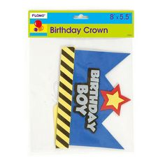 Birthday Boy Foam Crown 8 X 5.5/Case of 36 Tags:  Party Favor; Party Favor; birthday decorations;birthday Party Favor; https://www.ktsupply.com/products/32795331141/Birthday-Boy-Foam-Crown-8-X-55Case-of-36.html