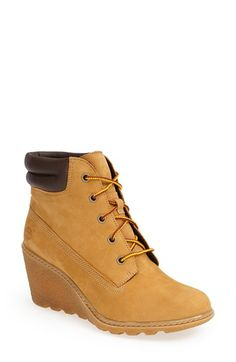 Free shipping and returns on Timberland Earthkeepers® 'Amston' Boot (Women) at Nordstrom.com. A striking wedge heel provides a feminine update for a classic workwear boot designed with Timberland Earthkeepers' eco-conscious philosophy and constructed using sustainable, recycled materials.