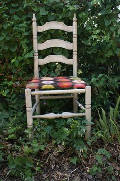 Ladder Back Sunburst Chair by TheVintageScavenger on Etsy, $75.00