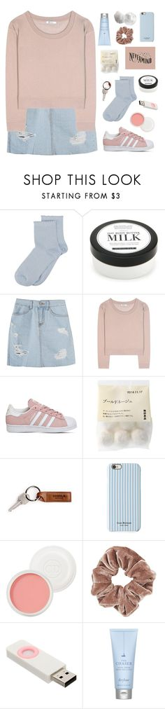 """""""Nevermind"""" by swirling-dreams ❤ liked on Polyvore featuring SELECTED, Home Decorators Collection, T By Alexander Wang, adidas, Isaac Mizrahi, Christian Dior, Topshop and Drybar"""