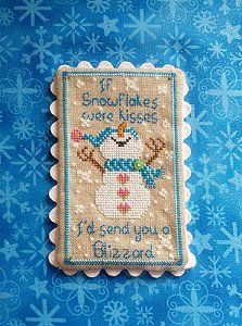 The Stitching Bear - Snowflake Kisses – Stoney Creek Online Store