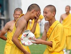 Kung Fu Monks Play Soccer 1