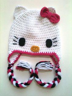 PATTERN Hello Kitty Beanie PATTERN by RuffledEdges on Etsy, $5.99