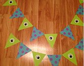 Monsters Inc themed Bunting - set of 2