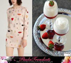 Food and Fashion Stella McCartney dress and Champagne Mousse with Strawberries