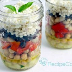 Mediterranean Bean Salad in a Jar