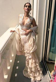 Cannes 2015: Sonam Kapoor in Abu Jani & Sandeep Khosla