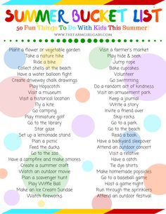 Add to your summer fun with this free printable Summer Bucket List. Kids and adults will have a ball completing this free list.