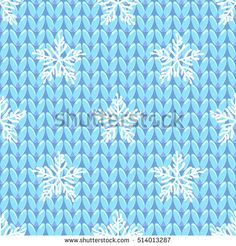 White snowflake hand-drawing. Knitting seamless pattern. Simple traditional red texture. Vector illustration.