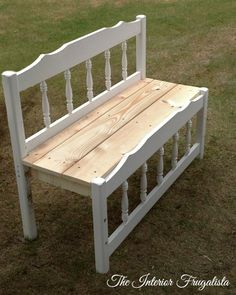 Twin Captain's Bed Turned Into An Outdoor Bench Assembled Refurbished Furniture, Repurposed Furniture, Furniture Makeover, Diy Furniture, Chair Makeover, Furniture Refinishing, Outdoor Furniture, Outdoor Garden Bench, Outdoor Decor