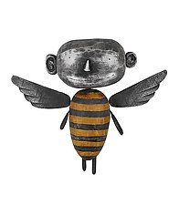 "Angel MoonBee by Bruce Chapin (Wood Wall Sculpture) (8"" x 9"")"