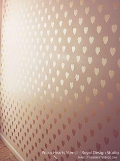 Polka Heart Stencil