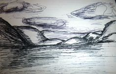 Biro and fineline drawing of Loch Lomond done in time to spare.