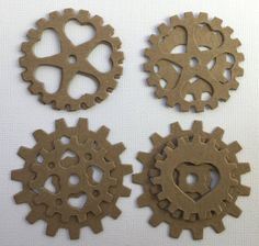 Heart Gears Wheels Gadgets Chipboard Die by GlitterDustDesigns