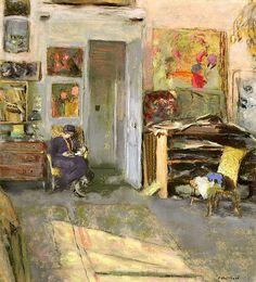 Edouard Vuillard (1868-1940) Lucie Belin dans l'atelier, 1915