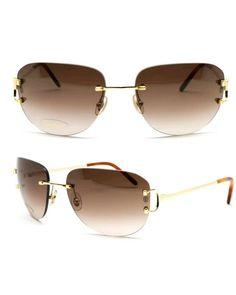 Occhiali Cartier Marbella Rimless C Decor Sunglasses Gold Plated for sale online Cartier Sunglasses, Big Sunglasses, Fake Glasses, Mens Glasses, Louis Vuitton High Tops, Designer Glasses For Men, Plates For Sale, Men Eyeglasses, Color Lenses