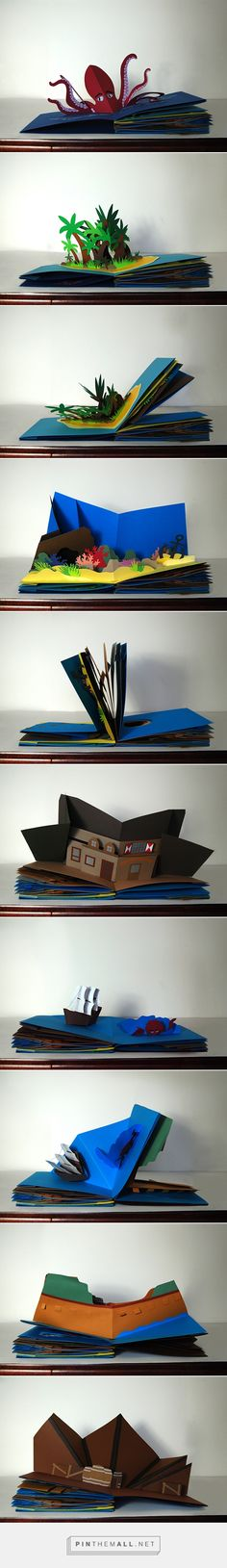 Pop-Up Book on Behance                                                                                                                                                                                 Mais