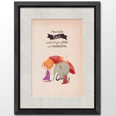 #after rain the sun is coming #girl #cute #illustrations: unique copy with the name of a girl, shop it at DaWanda:(http://de.dawanda.com/product/64137239-Druck-Nach-dem-Regen-Maedchen)