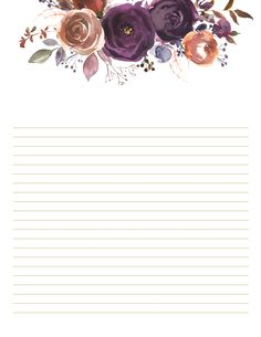 Give you wedding a hint of luxury. When you plan, use these beautiful stationery prints to write your heart. Printable Lined Paper, Free Printable Stationery, Stationery Printing, Stationery Paper, Writing Paper, Letter Writing, Digital Paper Free, Bullet Journal Font, Planner