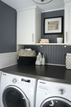Love this washer & dryer with a built-in counter!