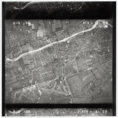 1938 -- Mineola -- Aerial north of Roosevelt Field aviation field/Carle Place . Stony Brook University Long Island Black and White Aerials Collection