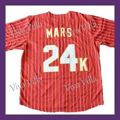 Bruno Mars 24K Hooligans Baseball Jersey Stitched Throwback Baseball Jerseys Free Shipping