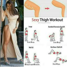 Most Effective Exercises to Reduce Cellulite on Thighs by trisha Fitness Workouts, Sport Fitness, Body Fitness, Butt Workout, Fitness Diet, Fitness Goals, At Home Workouts, Fitness Motivation, Health Fitness
