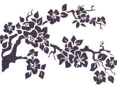 stencil fiore di pittura per progetti di decorazione di stencilfi