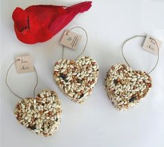 Cheap Wedding Favors to Make | Wild Bird Seed Heart Shaped Wedding Favors TheGloss