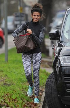 Just another day! Michelle Keegan looked gorgeous in her flattering workout gear as she stepped out for a gym session near her home in Essex last week