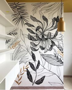 stencil wall art ideas stencil wall art + stencil wall art diy + stencil wall art on canvas + stencil wall art home decor + stencil wall art templates + stencil wall art ideas Wall Painting Decor, Mural Wall Art, Wall Design, House Design, Cheap Home Decor, Diy Wall, Room Inspiration, Bedroom Decor, Bath Decor