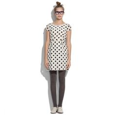 "Madewell silk polka dot dress Adorable, classic tailored dress from Madewell. White silk with black okay print dots. Side zip, defined waistline. 33"" from shoulder to hem. In great condition! Madewell Dresses"